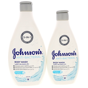 Johnson's Anti Bacterial Body Wash Sea Salt 400ml + 250ml