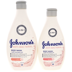Johnson's Anti Bacterial Body Wash Almond Blossom 400ml + 250ml
