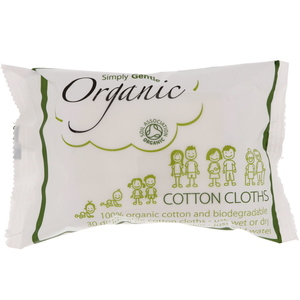 Simply Gentle Organic Cotton Cloths 30pcs