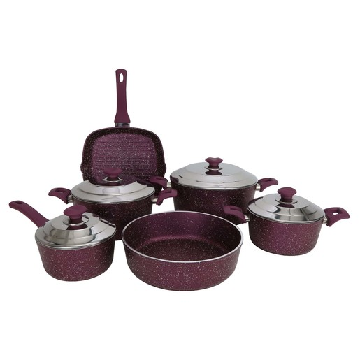 AKY Non Stick Granite Cookware Set 10pcs Assorted Colors