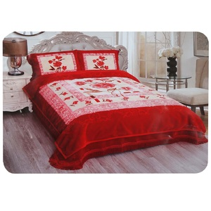 Maple Leaf Blanket Set 2ply 4pcs Assorted Colors & Designs