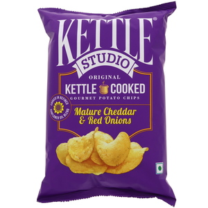 Kettle Studio Mature Cheddar & Red Onions Potato Chips 125g