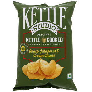 Kettle Studio Sharp Jalapenos & Cream Cheese Potato Chips 125g