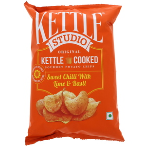 Kettle Studio Potato Chips Sweet Chilli With Lime & Basil 125g