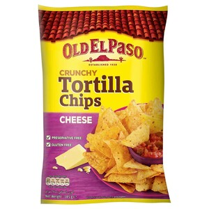 Old El Paso Crunchy Tortilla Chips Cheese 185g