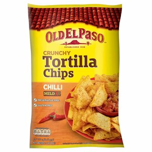 Old El Paso  Crunchy Tortilla Chips Chilli Mild 185g
