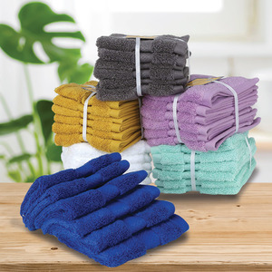 Homewell Face Towel 6pcs Set Assorted Colors Size: W30 x L30cm