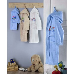 Cortigiani Kids Bathrobe Cotton 1pc Assorted Colors Made In Turkey Age 2-4 Y
