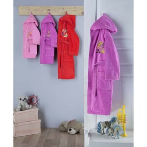 Cortigiani Kids Bathrobe Cotton Assorted Colors Made In Turkey Age 9-12 Y