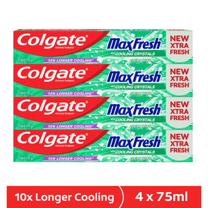 Colgate Gel Toothpaste Max Fresh Clean Mint 4 x 75ml