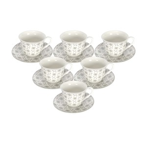 Tom Smith Cup & Saucer 200cc MB18001 GRim 12pcs Assorted Desgins
