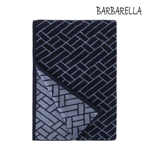 Barbarella Bath Towel Tile Jacquard LAKE Size: W76 x L142cm