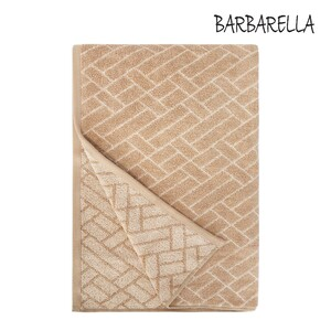 Barbarella Bath Towel Tile Jacquard CANDIED Size: W76 x L142cm