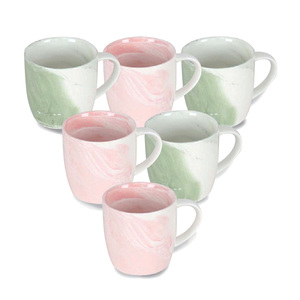 Home Color Mugs 6pcs 280cc GM38 Assorted Colors & Designs