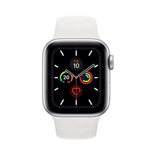Apple Watch Series 5 GPS MWVD2AE 44mm Silver Aluminium Case with White Sport Band