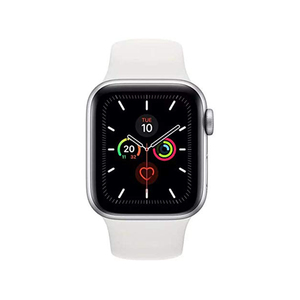 Apple Watch Series 5 GPS + Cellular MWX12AE 40mm Silver Aluminium Case with White Sport Band