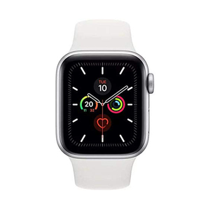 Apple Watch Series 5 GPS + Cellular MWWC2AE 44mm Silver Aluminium Case with White Sport Band