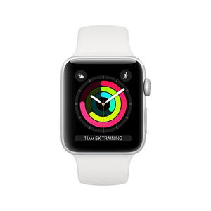 Apple Watch Series 3 GPS 42mm Silver Aluminium Case with White Sports Band