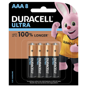 Duracell Ultra AAA Battery 8pcs