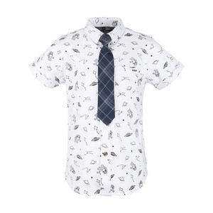Ruff Boys Shirt Short Sleeve with Tie SB-04410L