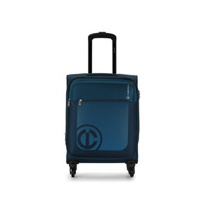 Carlton Morgan 4Wheel Soft Trolley 55cm Blue