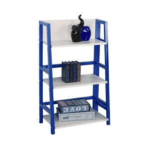 Maple Leaf Home Book Shelf 3Layr BS1612 Blue Size: W53xD32xH89cm