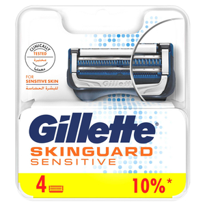 Gillette Skin Guard Men's Razor Refill For Sensitive Skin 4pcs