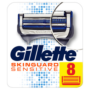 Gillette Skin Guard Men's Razor Blades Refill For Sensitive Skin 8pcs