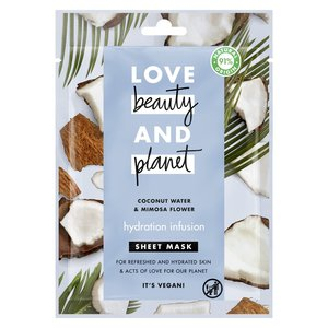 Love Beauty and Planet Sheet Mask Hydration Infusion Coconut Water & Mimosa Flower 1pc
