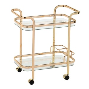 Maple Leaf Home Serving Trolley Gold 80145 Size: W71 x D38 x H75cm