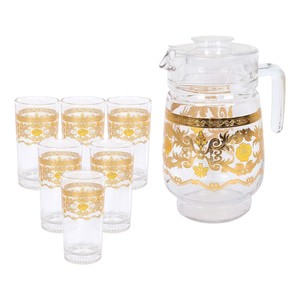 Crystal Drops Water Set D-0097-GPR 7pcs