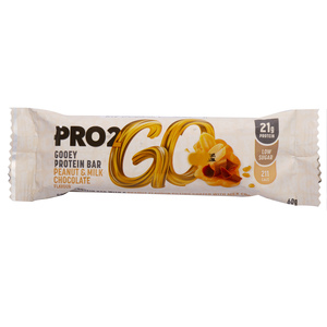 Pro 2Go Gooey Protein Bar Peanut & Milk Chocolate 60g