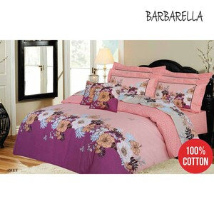 Barbarella Comforter Set Double 193x241cm Awet 4pcs Set