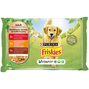 Purina Friskies Dog Food Variety Pack Pouch 4 x 100g