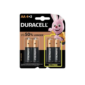 Duracell AA Battery 4+2