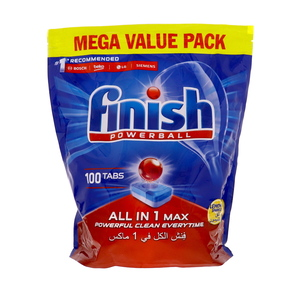 Finish Power Ball All In 1 Max Dishwasher Detergent Tabs Lemon 100pcs