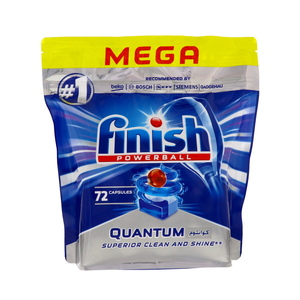 Finish Power Ball Dishwasher Detergent Tabs Quantum 72pcs