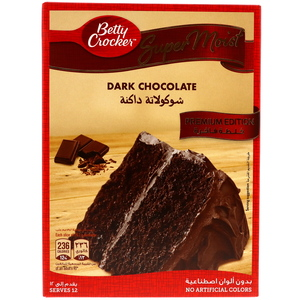 Betty Crocker Super Moist Cake Mix Dark Chocolate 510g