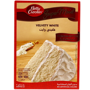 Betty Crocker Super Moist Cake Mix Velvety White 510g