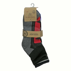 Debackers Men's Ankle Sports Crew Socks Free Size 3Pair Pack DBMSS20