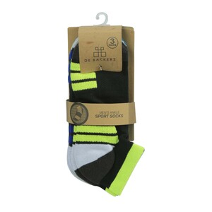 Debackers Men's Sports Ankle Socks Free Size 3Pair Pack DBMSS23