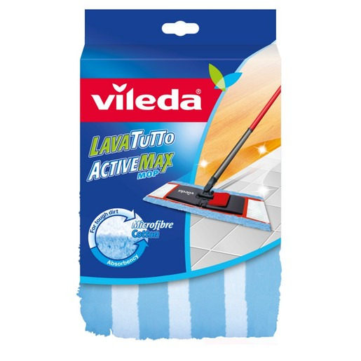 Vileda Active Max Flat Mop Floor Cleaning Mop Refill 1pc