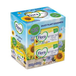 Flora Buttery Vegetable Oil Spread 2 x 500g