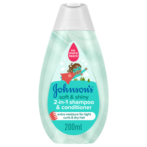 Johnson's 2-in-1 Kids Shampoo & Conditioner 200ml