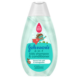 Johnson's 2-in-1 Kids Shampoo & Conditioner 500ml