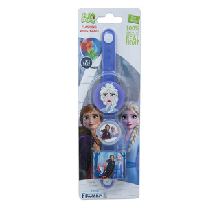 Disney Frozen 2 Flashing Wristband With Fruit Snacks 5g