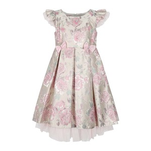 Cortigiani Girls Party Frock Cap Sleeve GHU9 Pink 2-8Y