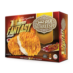 Al Areesh Zing Chicken Fantasy Escalope Hot N Crispy 400g