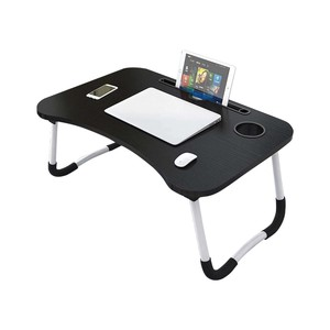 Golden Wheat Foldable Laptop Table 40x60x28cm Black
