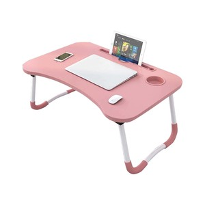 Golden Wheat Foldable Laptop Table 40x60x28cm Pink
